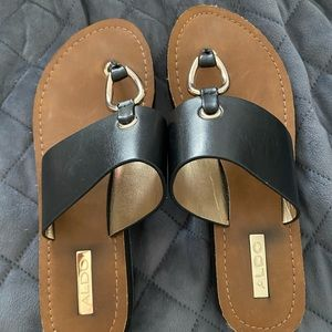 Beautiful Aldo black sandals size 6 1/2.